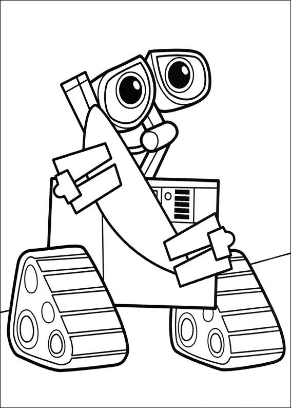 567x794 Kids N Coloring Pages Of Wall E