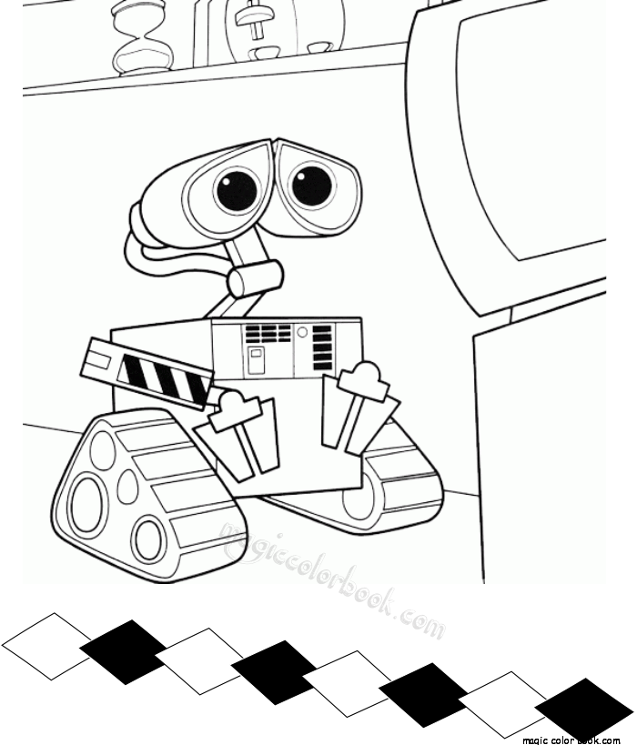 700x819 Pixar Walle Coloring Pages Disney For Kid