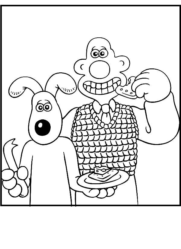 Wallace And Gromit Coloring Pages