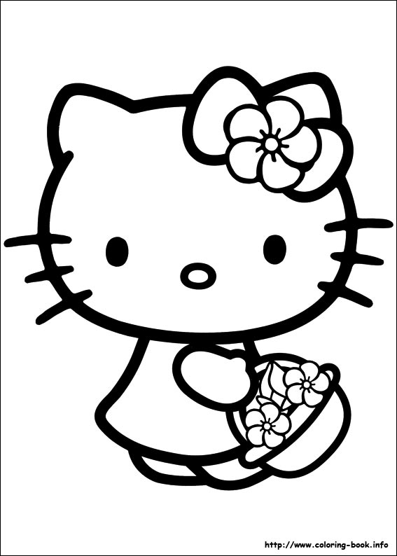 567x794 Coloring Pages Printable Top Hello Kitty Images To Color