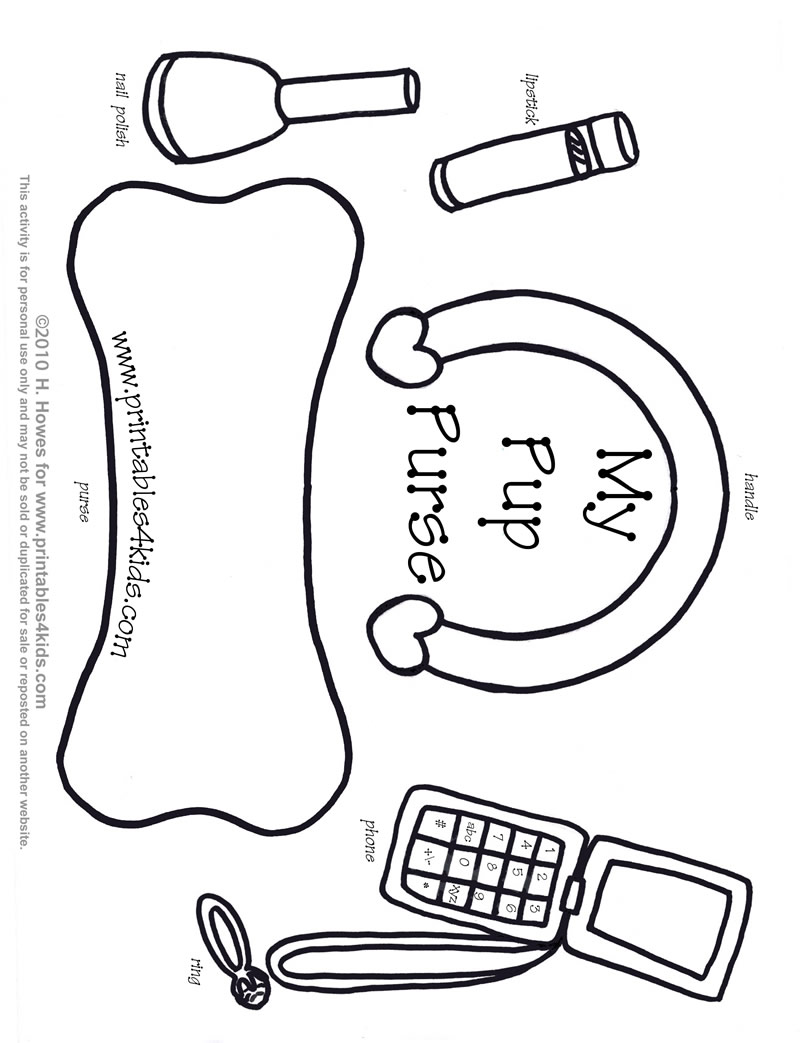 800x1043 Print And Play Purse For Little Girls Printables For Kids Free