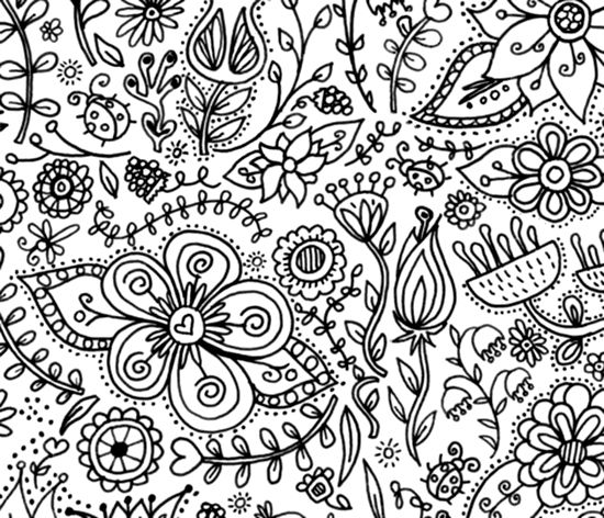 550x472 Coloring Page Wallpaper For Kids Spoonflower, Wallpaper And Erin