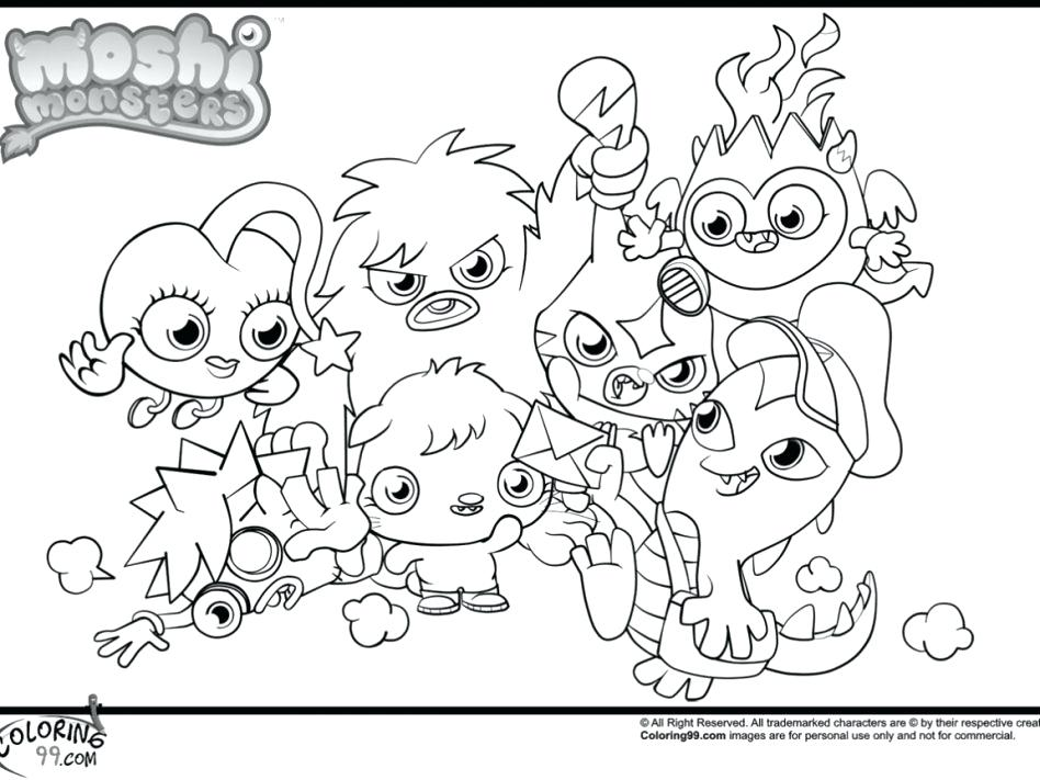 948x711 Moshi Monsters Coloring Pages Large Size Of Monsters Coloring