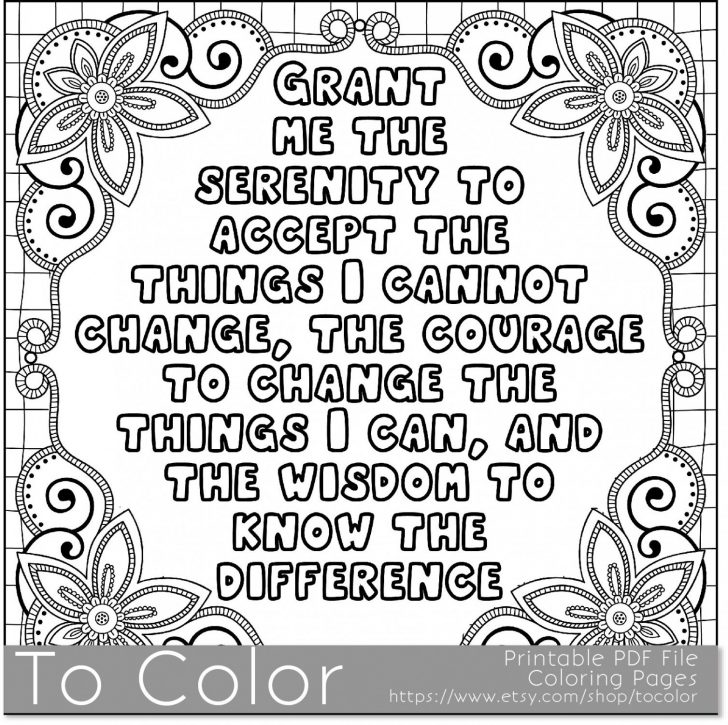728x725 Serenity Prayer Coloring Page Prayer Coloring Pages With Wallpaper
