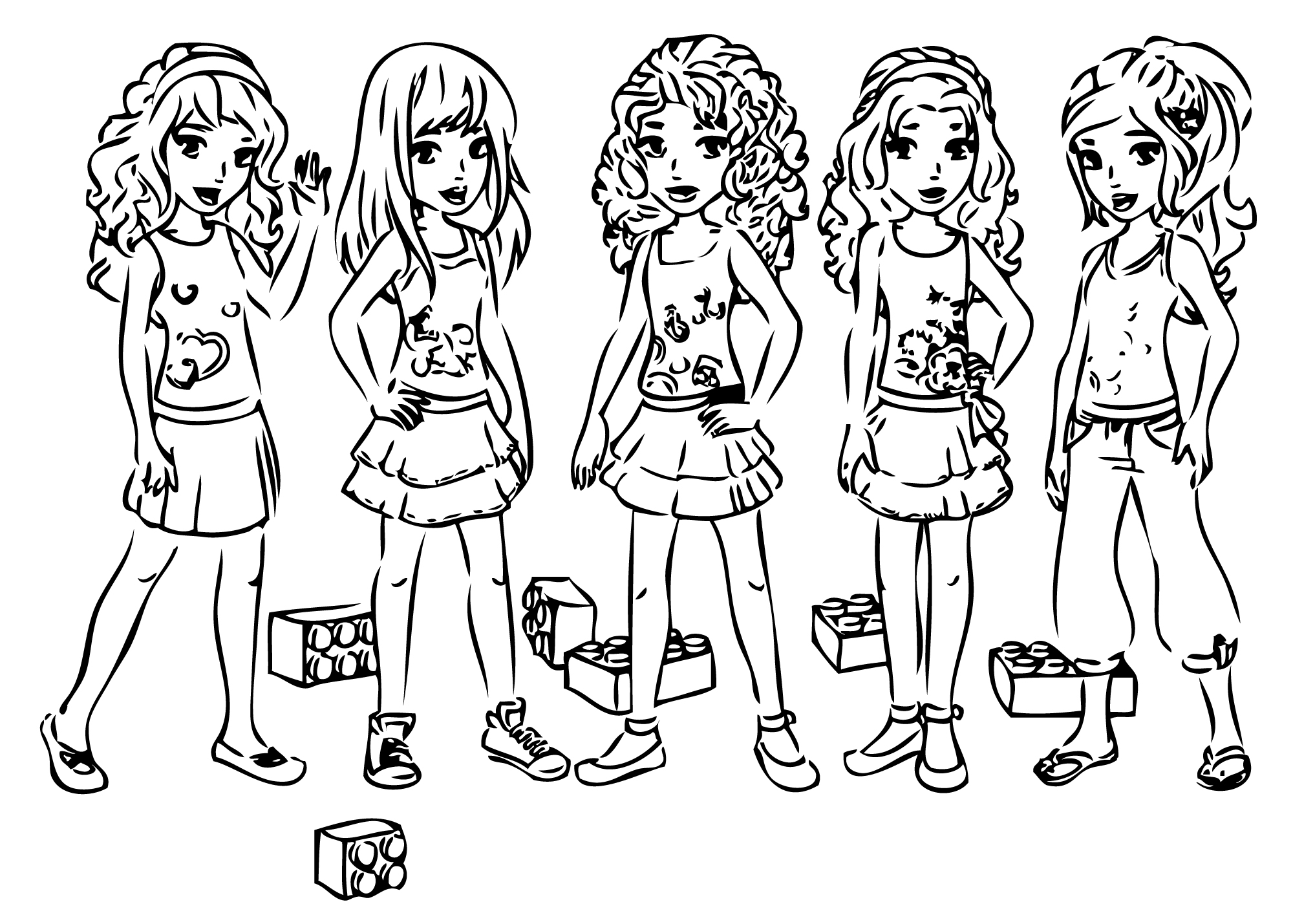 2000x1429 Beautiful Lego Friends Coloring Pages Hd Wallpaper