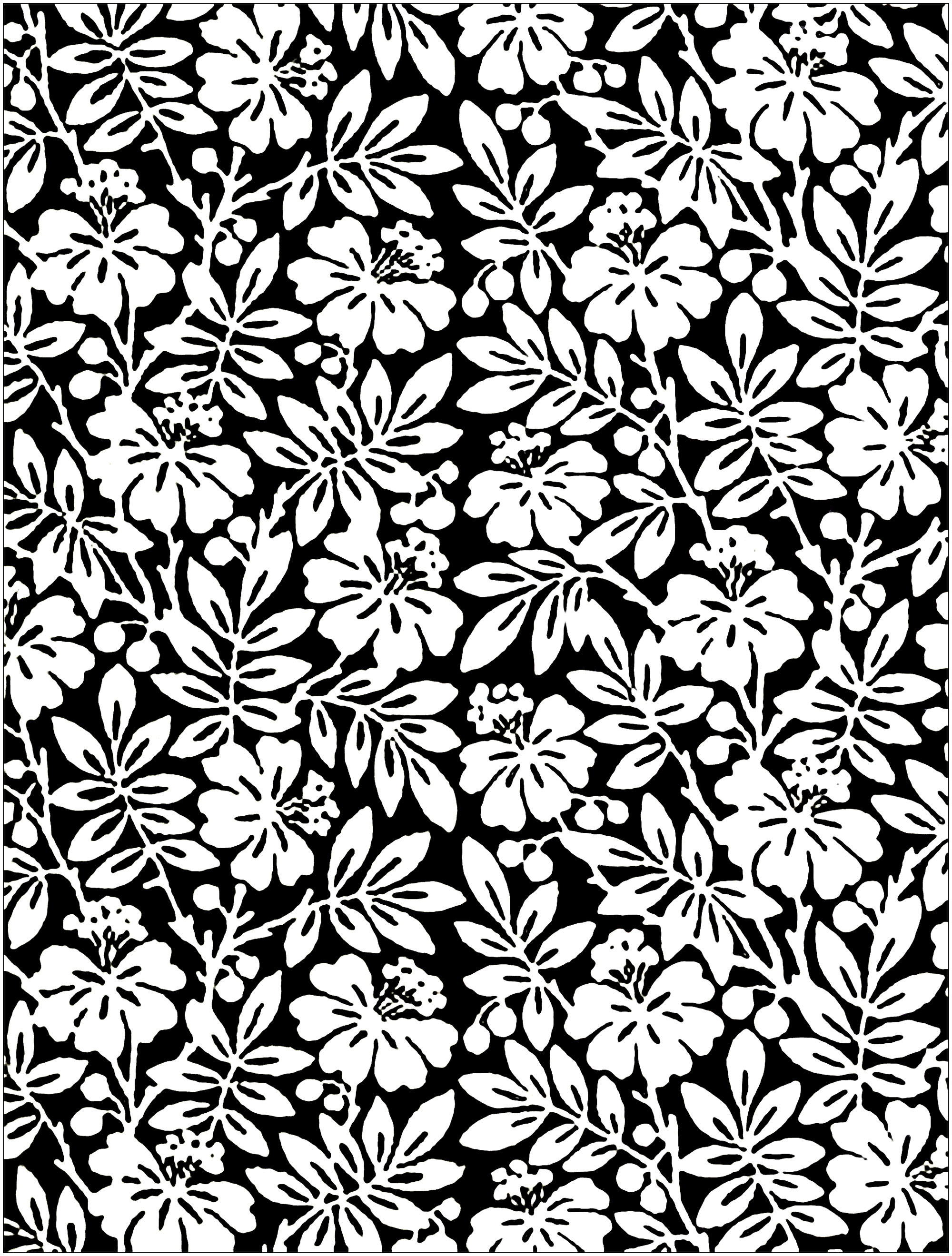 2000x2639 Black And White Flowers From English Century Wallpaper