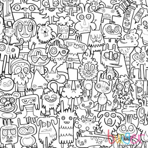 500x500 Burgerdoodles Colour In Wallpaper Wallpaper, Doodles