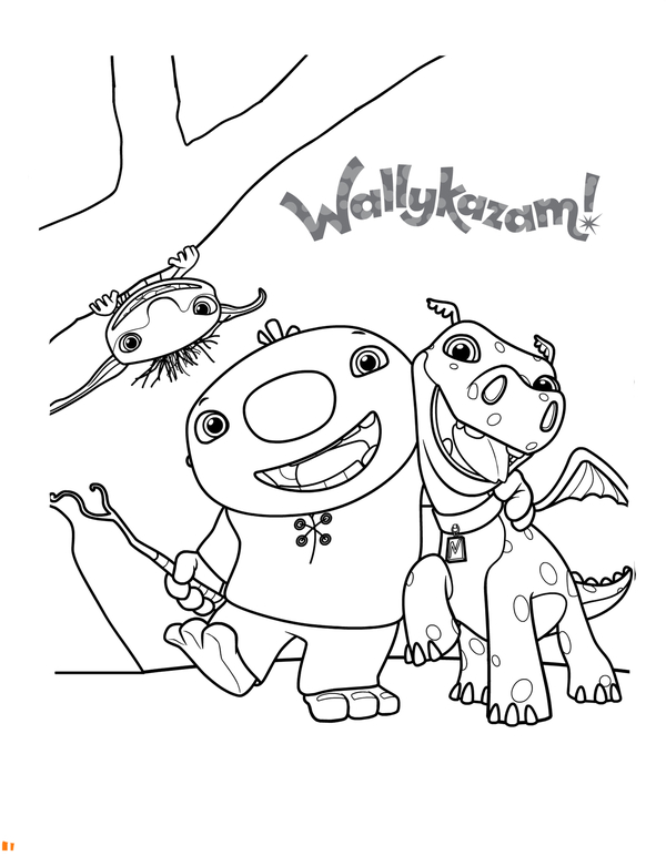 600x772 Wallykazam Coloring Pages