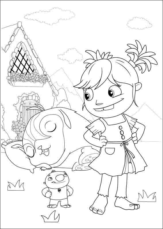 567x794 Wallykazam Coloring Pages Eli Bday Birthdays
