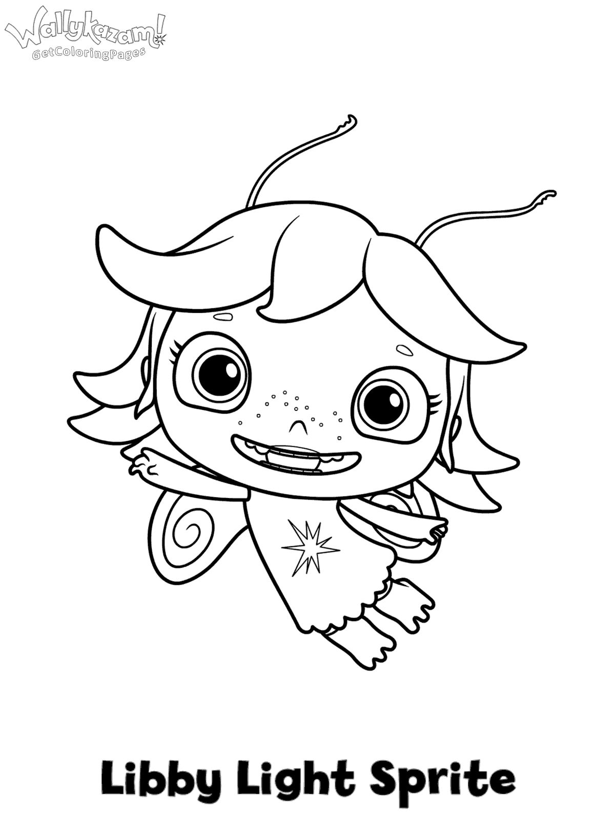 1200x1614 Wallykazam Colouring Page Libby Light Sprite
