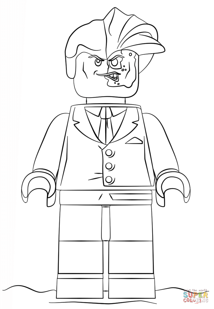 824x1186 Lego Two Face Coloring Page Free Printable Pages Batman