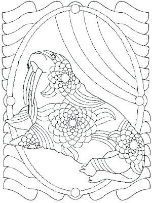 300x400 Walrus Coloring Page Walrus Coloring Pages Walrus Coloring Sheet