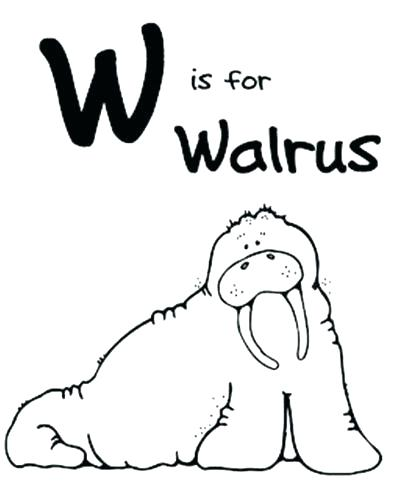 400x500 Walrus Coloring Pages Coloring Ideas Pro