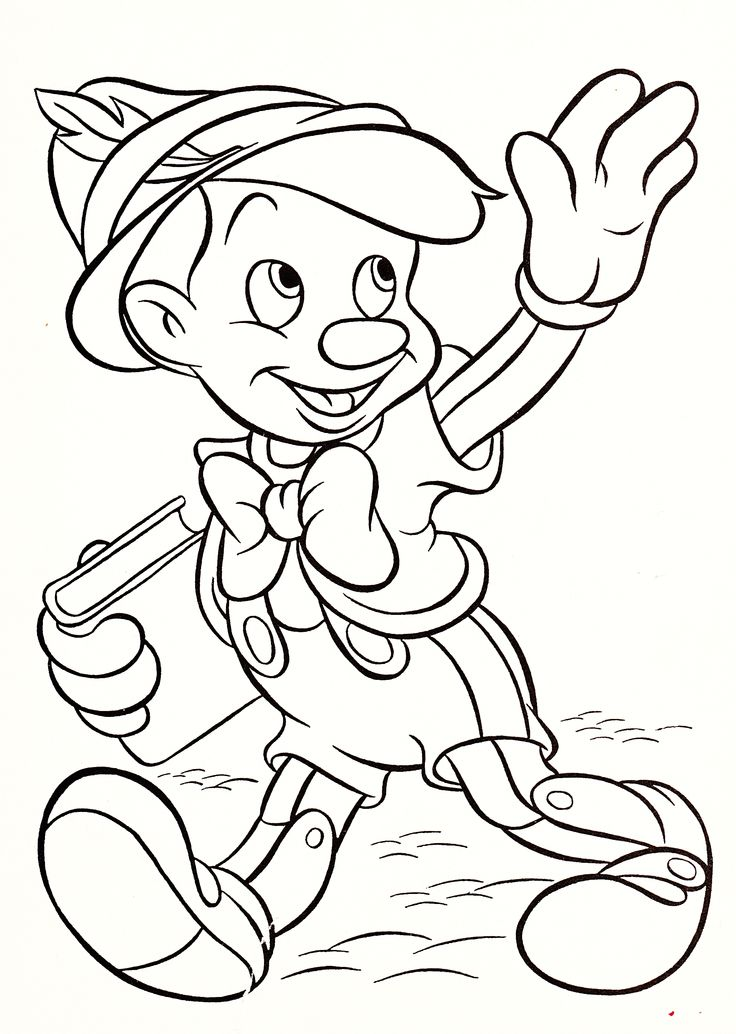 736x1034 Disney Characters Coloring Pages Pinocchio