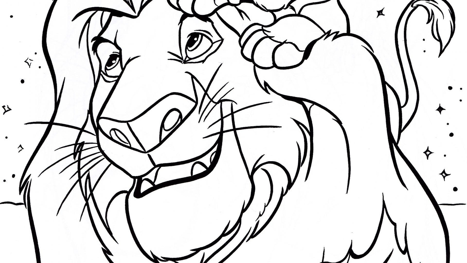 1920x1080 Walt Disney Coloring Pages For Kids Cartoons World Printable