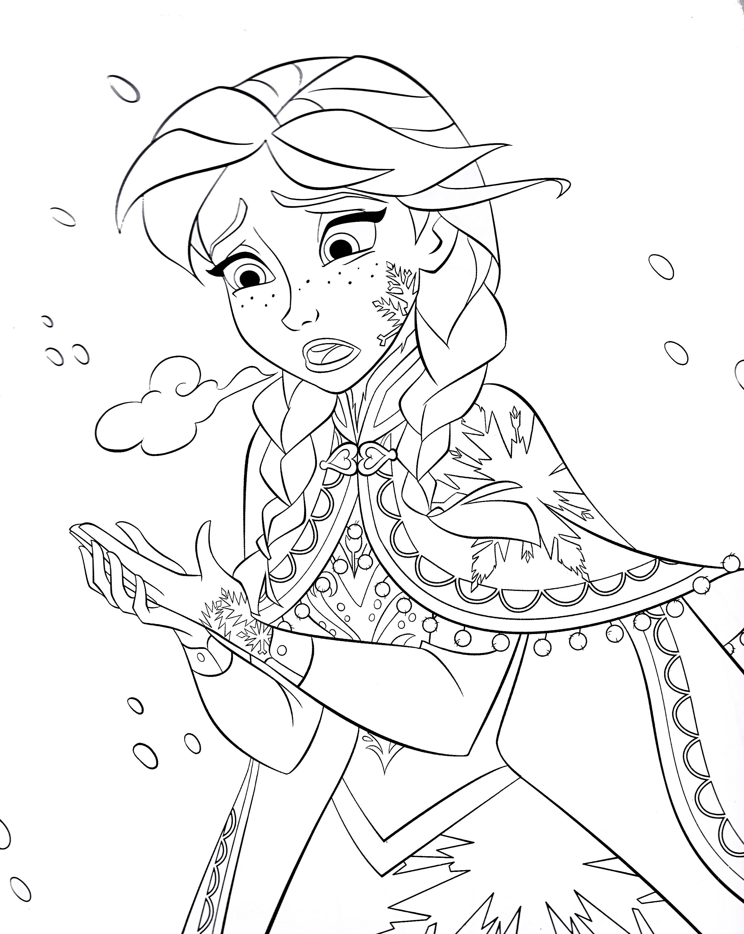 2552x3204 Walt Disney Coloring Pages Princess Anna Walt Disney Characters