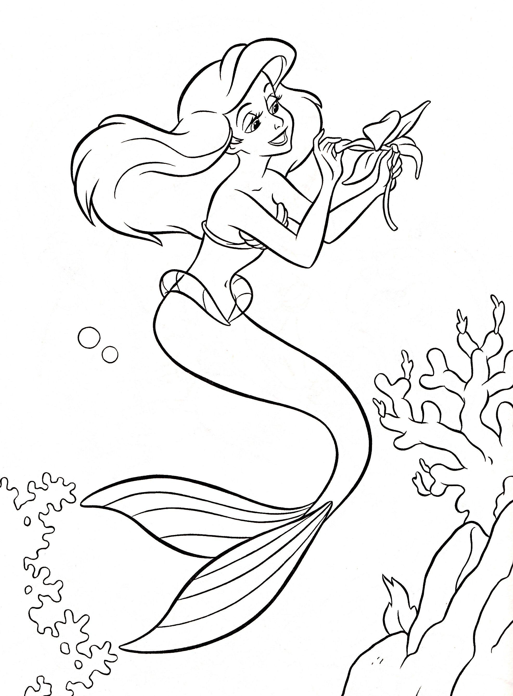 1972x2676 Walt Disney Coloring Pages Princess Ariel Characters Cool Mosm