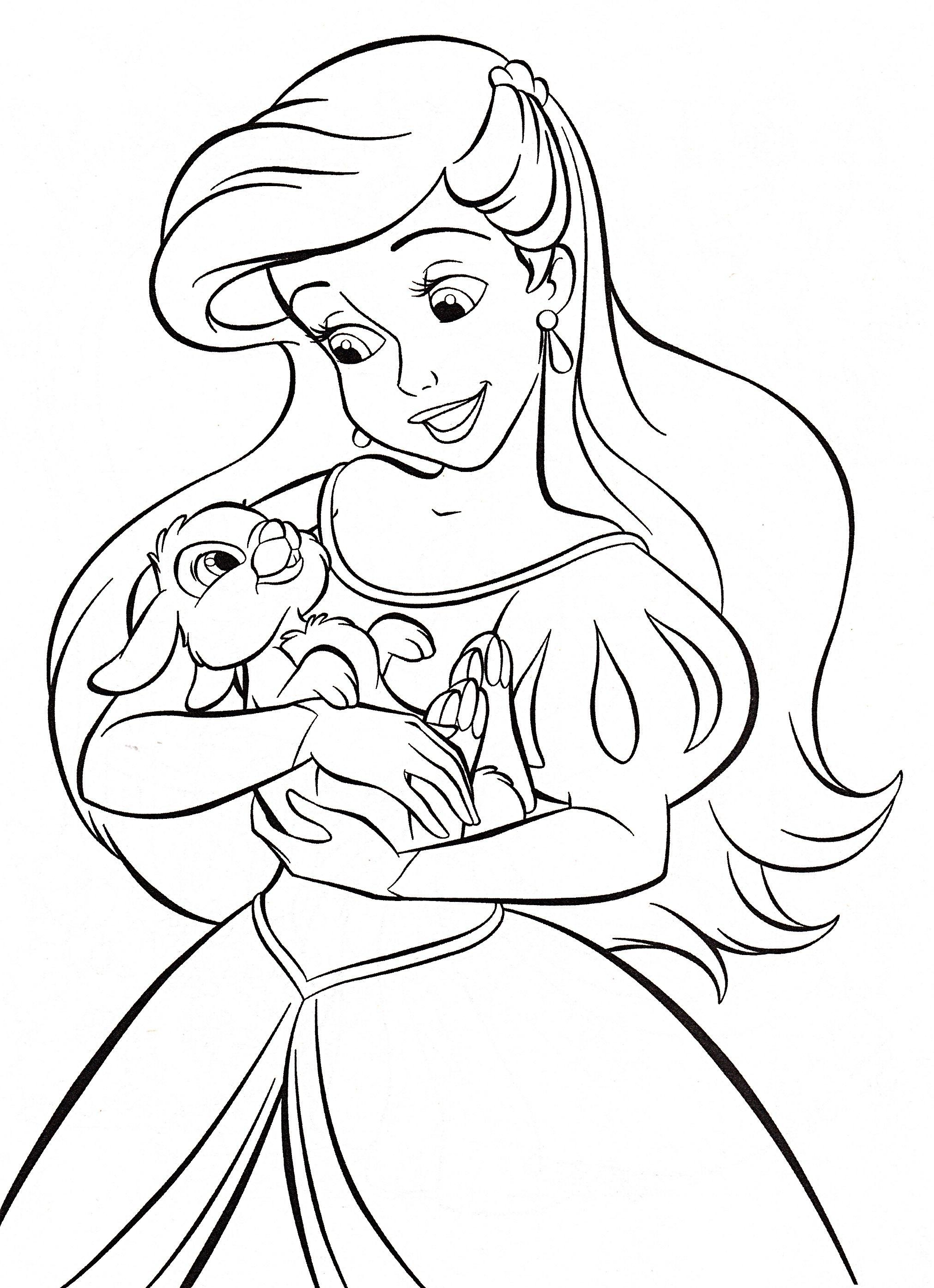 2022x2789 Walt Disney Coloring Pages Princess Ariel Walt Disney New