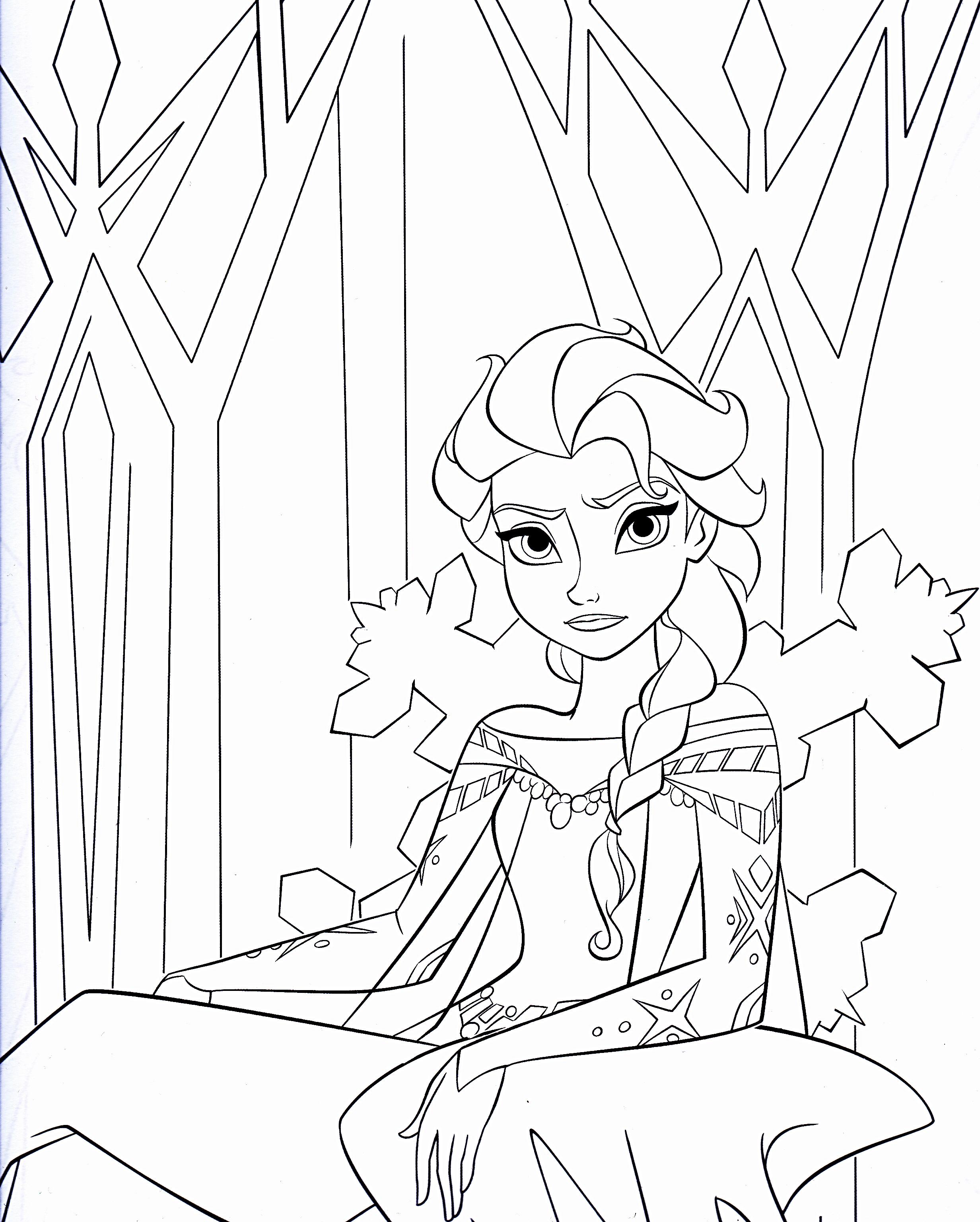 2464x3072 Walt Disney Coloring Pages Queen Elsa Walt Disney Characters