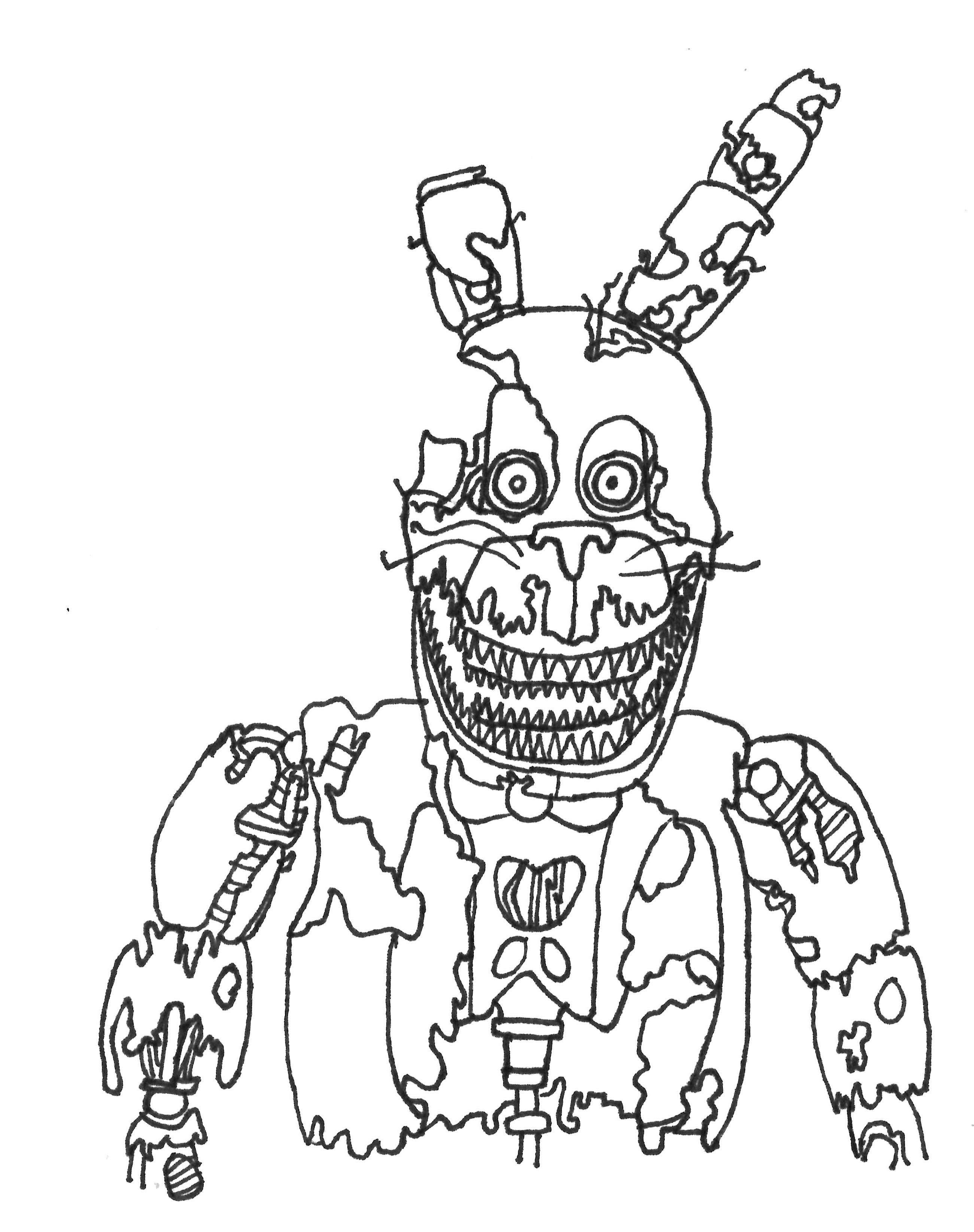 The best free Withered coloring page images. Download from ...