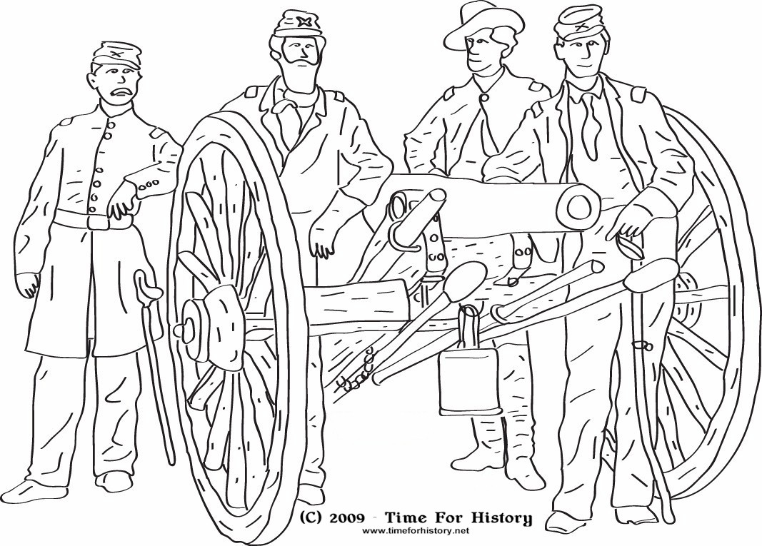 1067x765 Civil War Coloring Pages Group Of Union Officers Pose Near