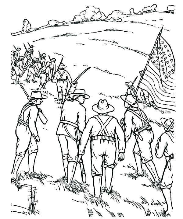 600x720 Civil War Coloring Pages A Soldiers Life In The Civil War Coloring