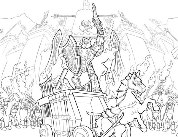 600x464 Lego Knights Win The War Coloring Pages Batch Coloring