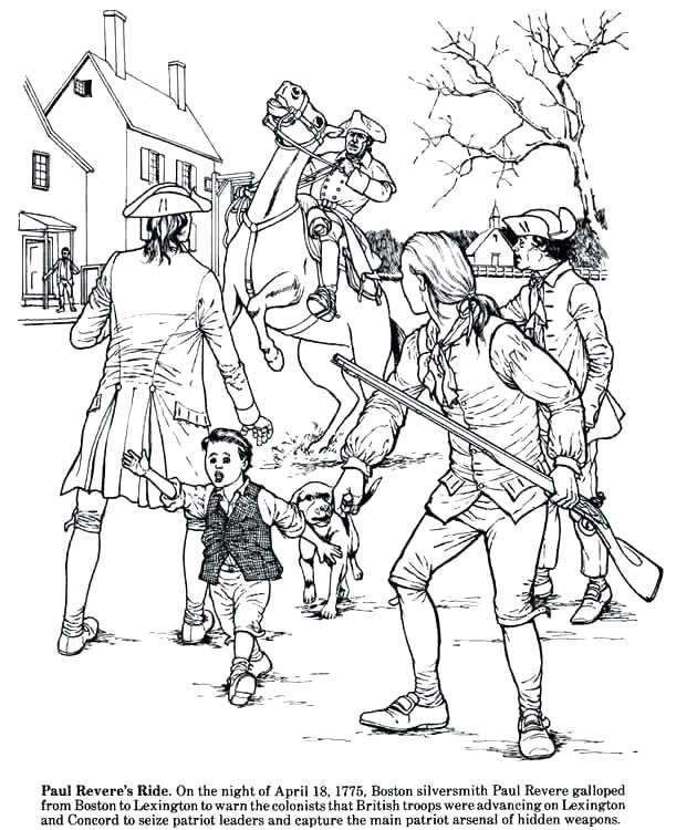 611x750 Revolutionary War Coloring Pages Revolution Coloring Pages