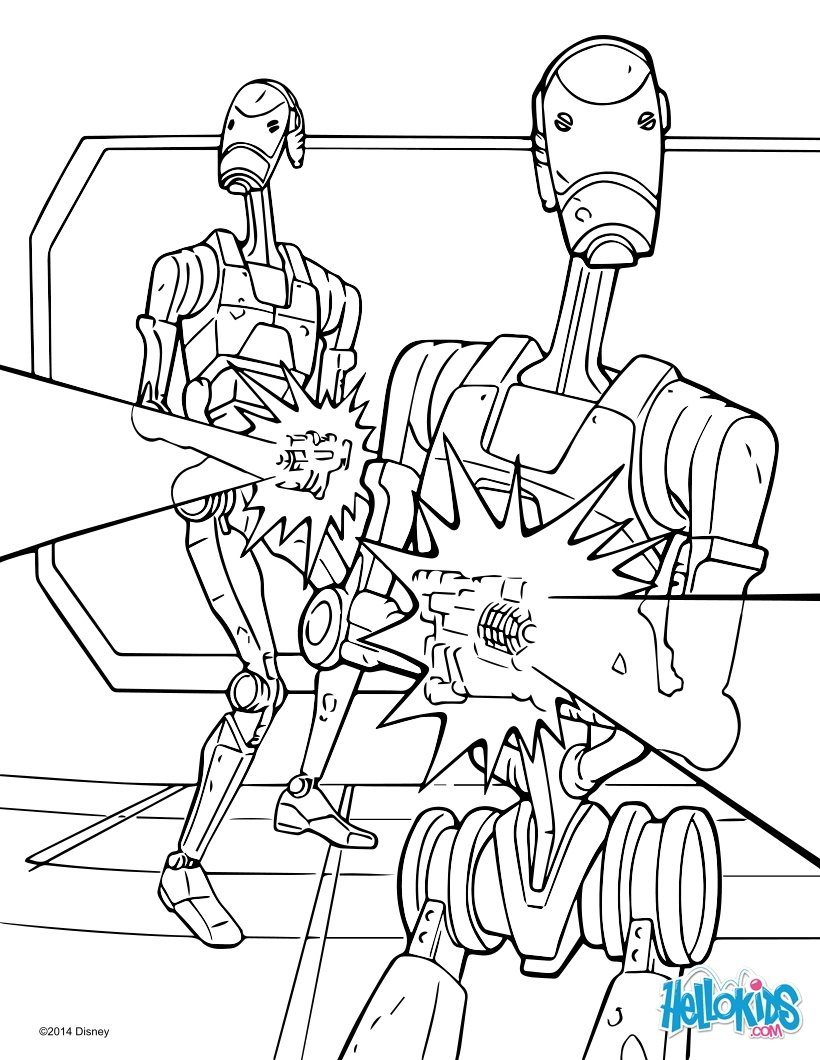 820x1060 Star Wars Battle Droids Coloring Pages