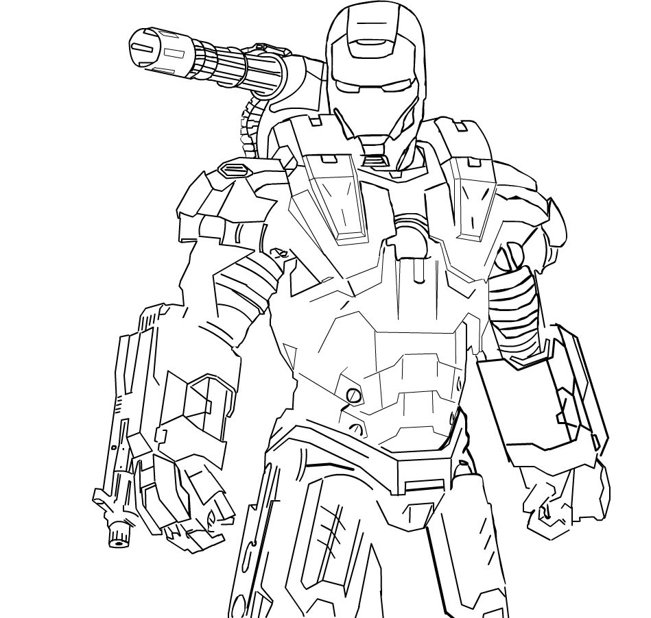 949x902 War Machine Coloring Pages