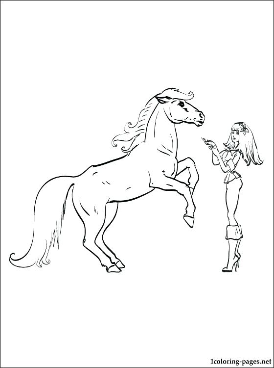 Barbie and her sisters in a Pony Tale coloring pages - DinoKids.org | 750x560