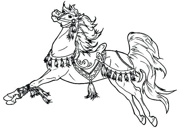 600x425 War Horse Coloring Pages Carousel Coloring Page Carousel Horse