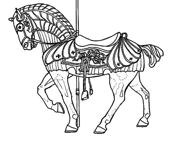 600x492 War Horse Coloring Pages Carousel War Horse Coloring Pages