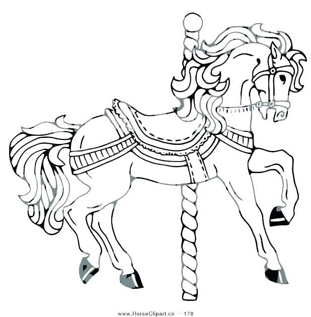 618x630 Carousel Coloring Page Carousel Coloring Pages Carousel War Horse
