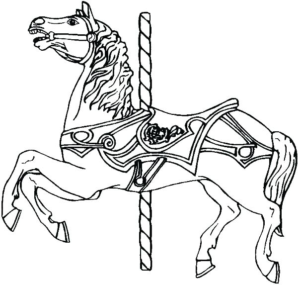 600x573 Carousel Coloring Page Carousel Horse Coloring Pages Carousel War