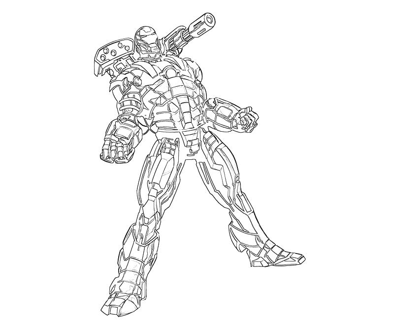 800x667 War Machine Coloring Pages