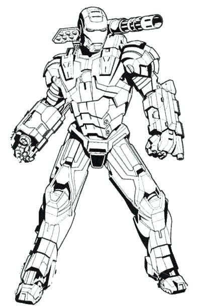 400x612 Ironman And War Machine Coloring Pages War Machine Coloring Pages