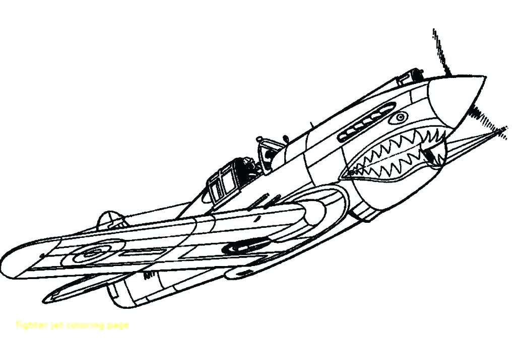 War Plane Coloring Pages