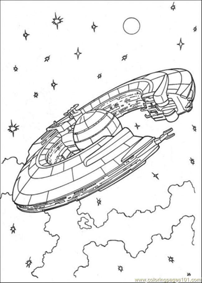 650x912 Star Wars Ship Coloring Page