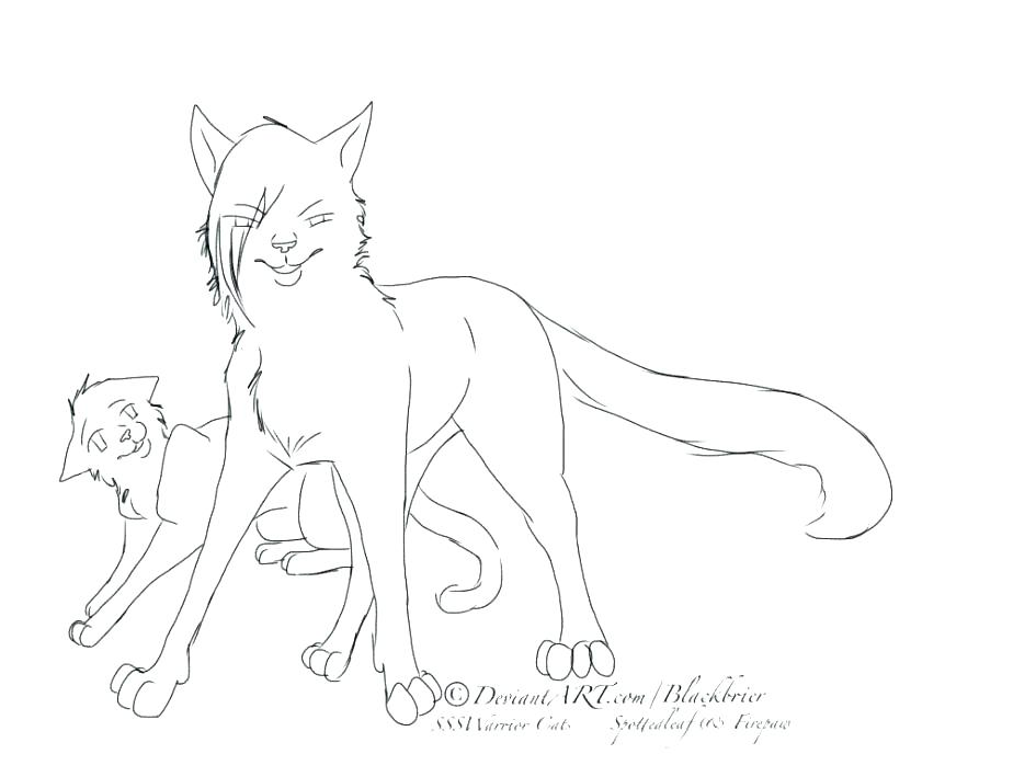 945x709 Warrior Cats Coloring Pages Warrior Cats Kittens Coloring Pages
