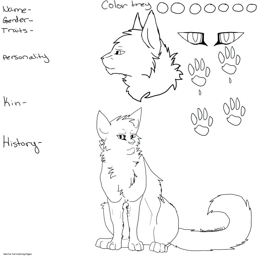869x869 Warriors Cats Coloring Pages Astonishing Warriors Cats Coloring