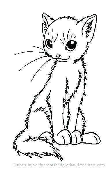 385x592 Astounding Cool Warrior Cats Coloring Print Pages Sitting Pretty