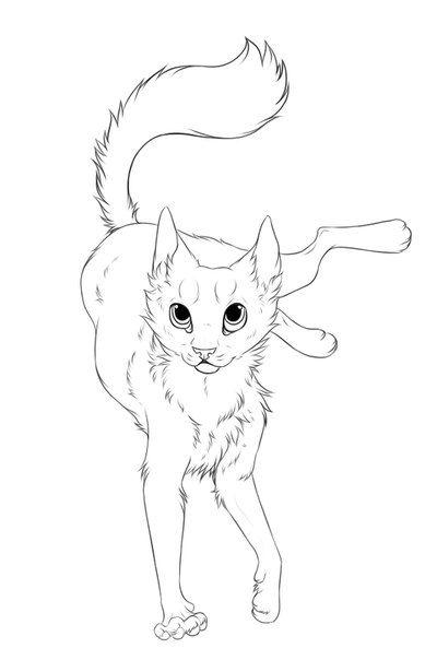 400x604 Cat Lineart