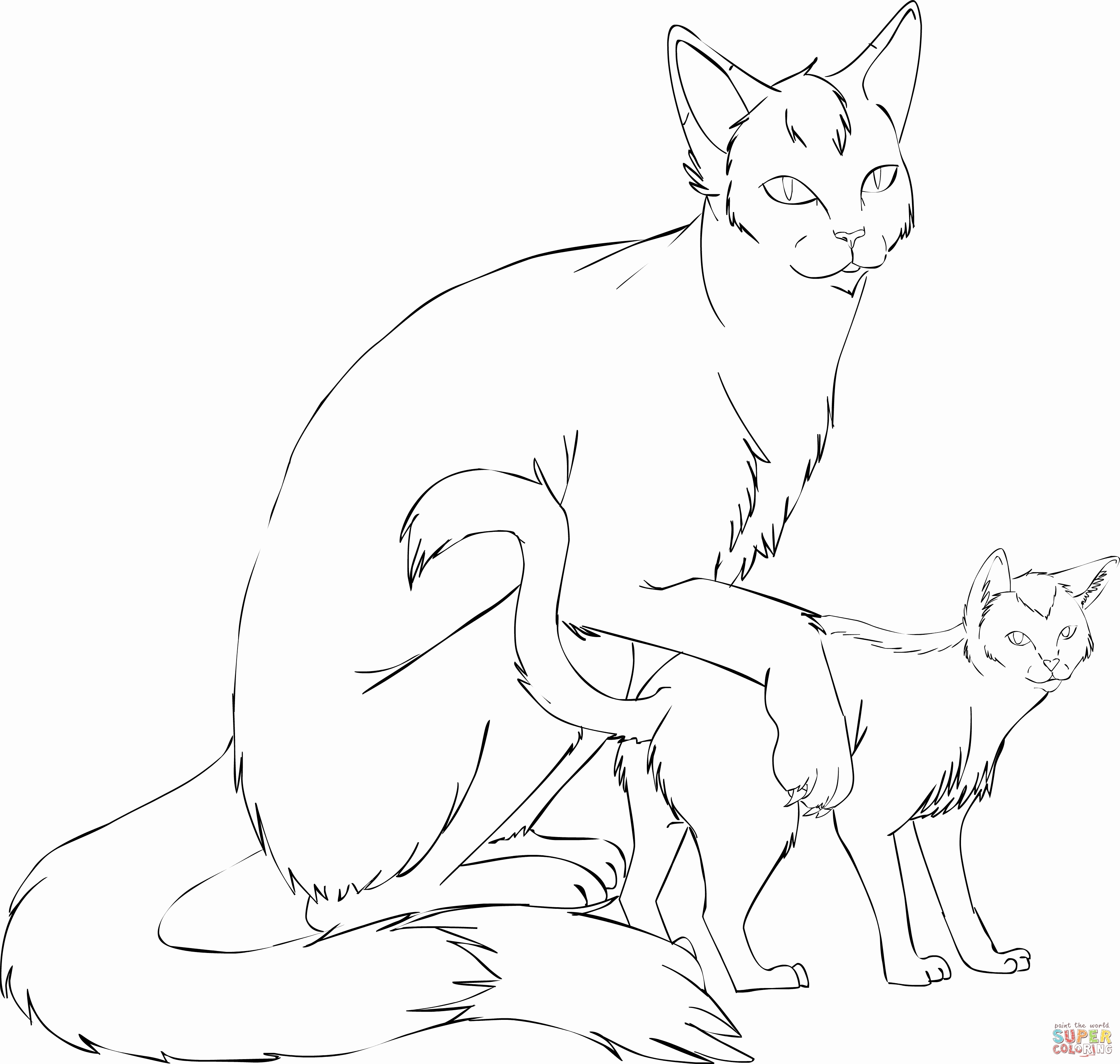 3451x3277 Cat Girl Coloring Pages Printable