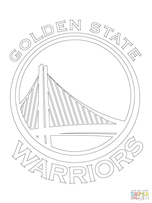 525x700 Golden State Warriors Coloring Pages Free Golden State Warriors