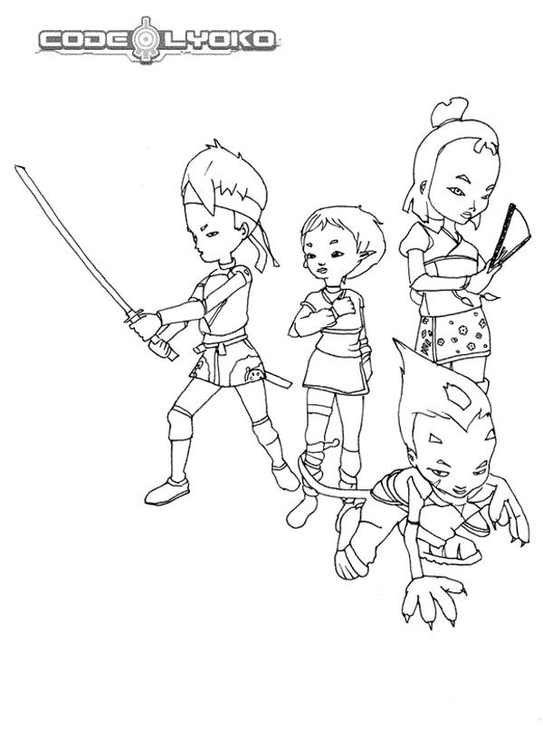 600x828 Code Lyoko Warriors Awesome Skills Coloring Pages Batch Coloring