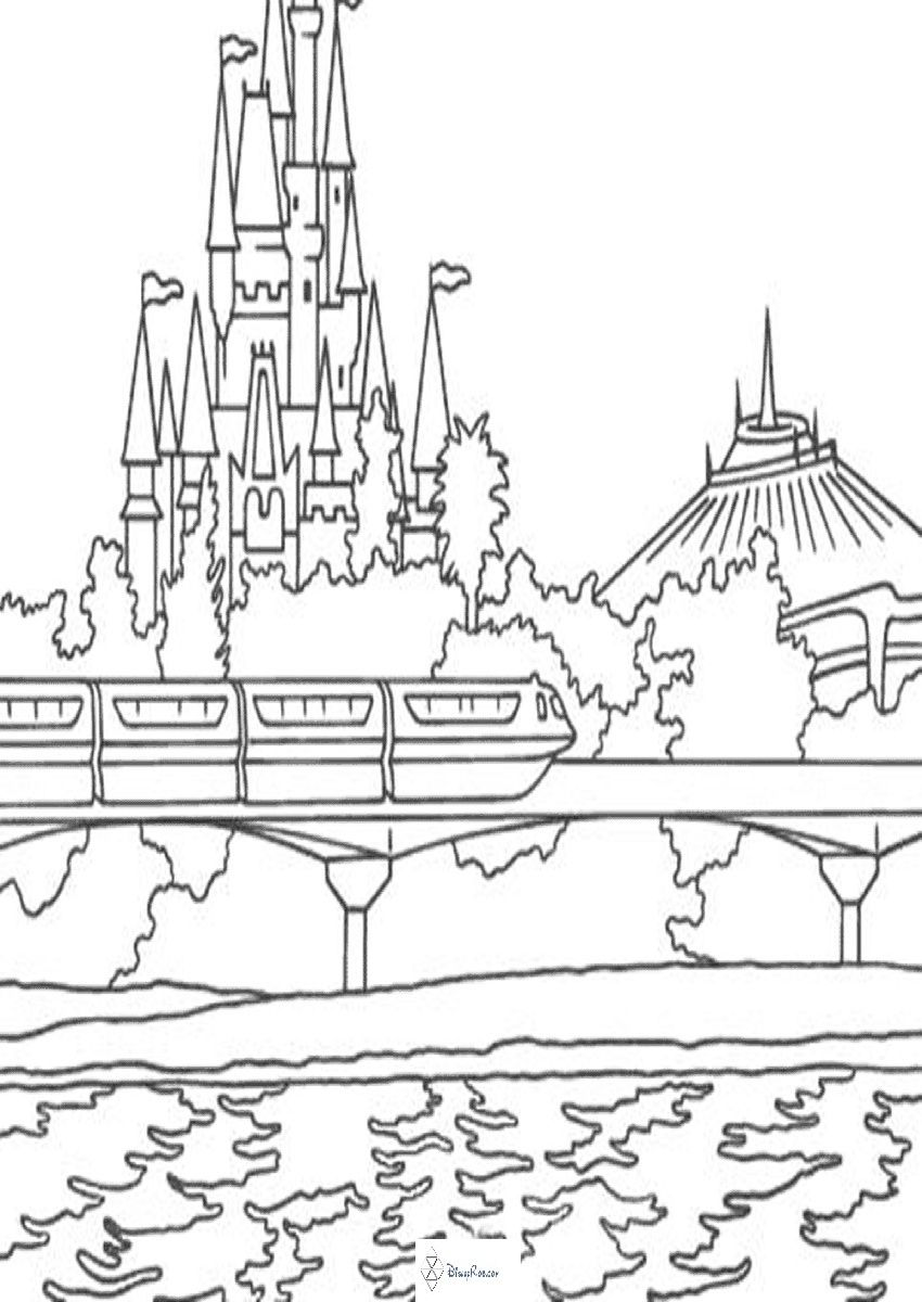 850x1200 Disney World Coloring Pages