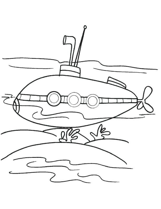 612x792 Free Printable Submarine Coloring Pages Two Big Submarines Two