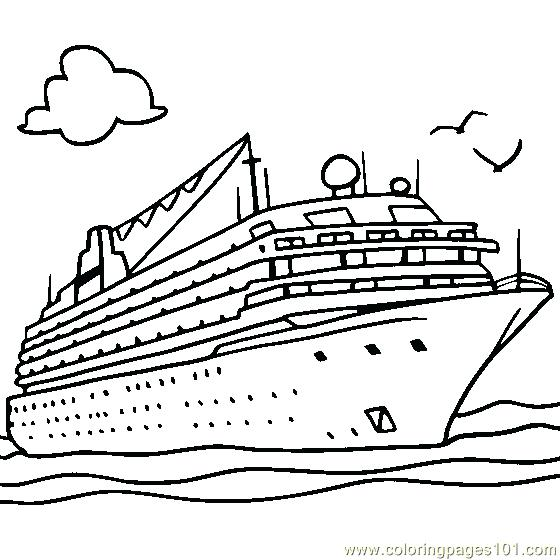 560x560 Ship Coloring Pages
