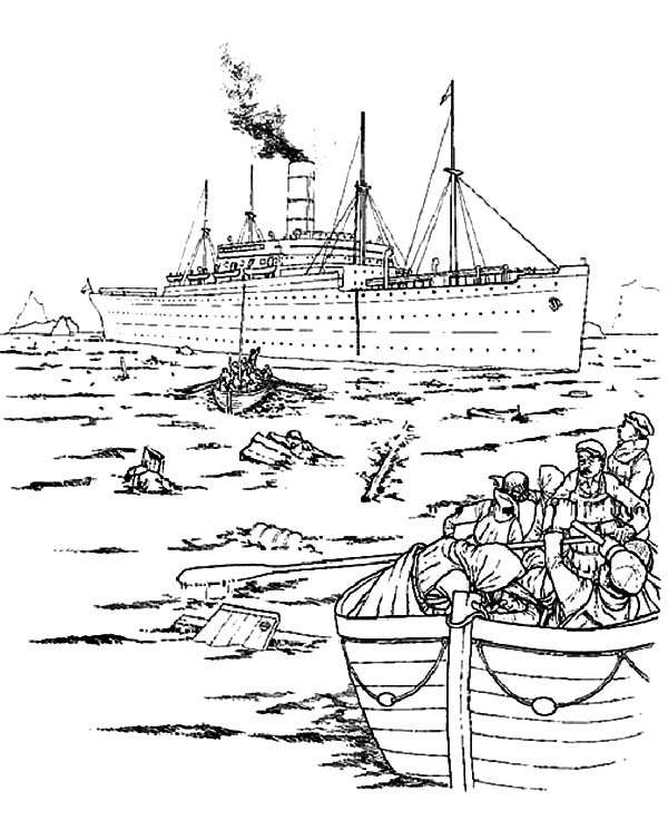 600x736 The Survivor Of Titanic Coloring Pages Batch Coloring